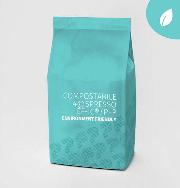 COMPOSTABLE LAMINATED FILM -FILM COMPOSTABILE  4@SPRESSO EF-IC® - P+P ENVIRONMENT FRIENDLY