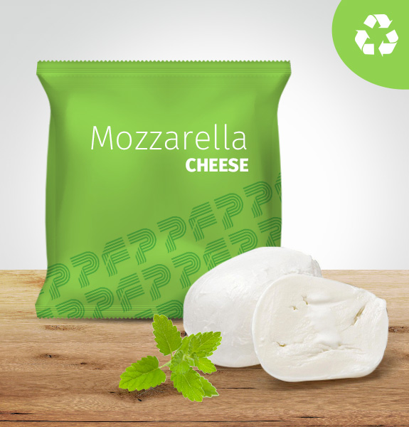 RECYCLABLE FILM EF-HR® Environment Friendly Flow Pack & Top 4 Mozzarella cheese